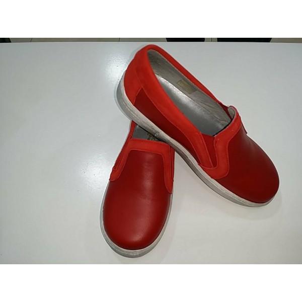 ROJO PIEL Mi de zapatos SUELA CON SPORT casita ZAPATO knPXN80ZwO