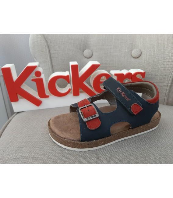 Sandalia KICKERS marino y roja