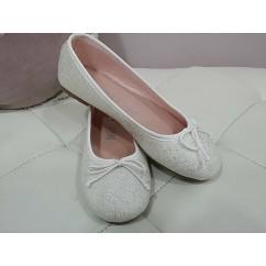 Bailarina saco blanca y plata